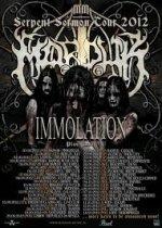 Marduk mit Immolation auf Serpent Sermon Tour 2012